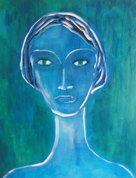 Femme aux yeux verts