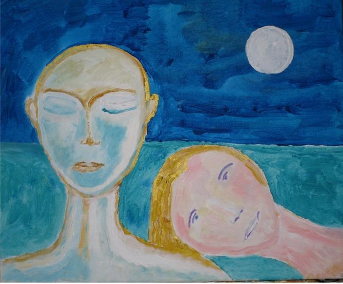 Couple pleine lune