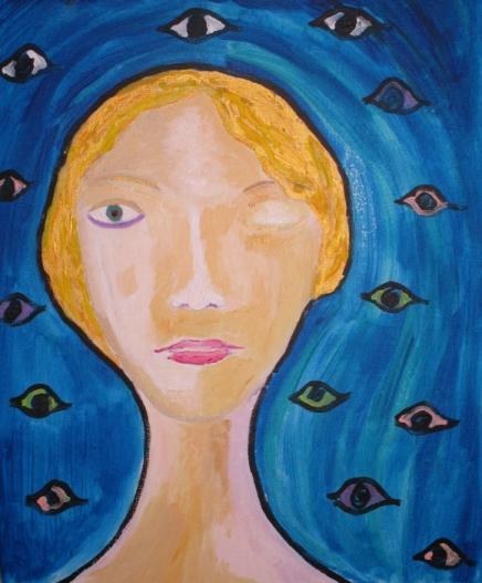 Femme en quête d'un oeil